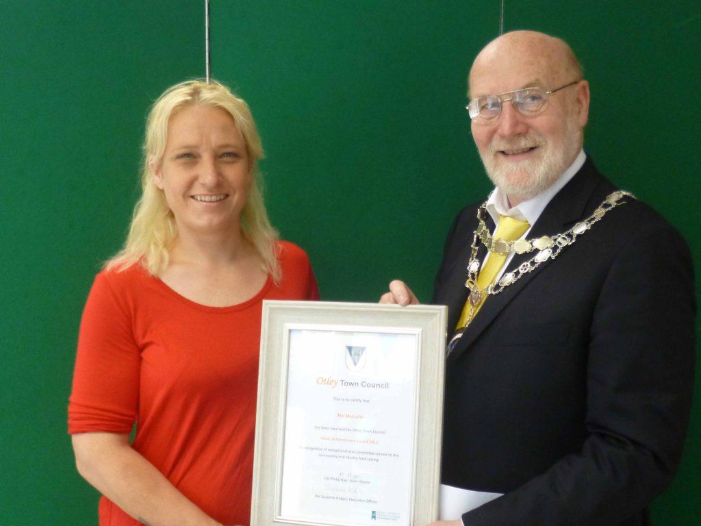 achievement award mel metcalfe 2016