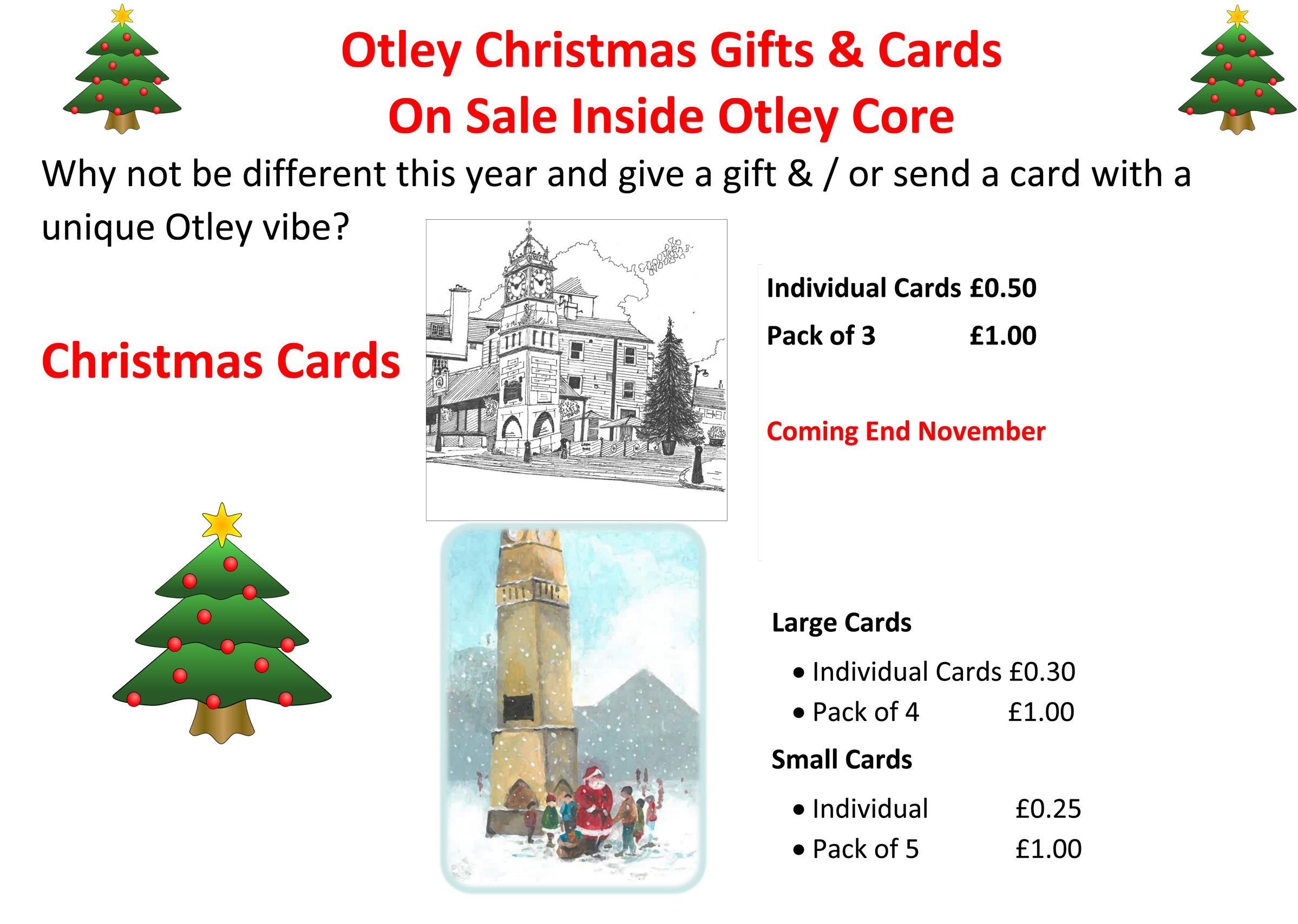 Otley Christmas Gifts & Cards Now on Sale at Otley Core | Otley Town ...